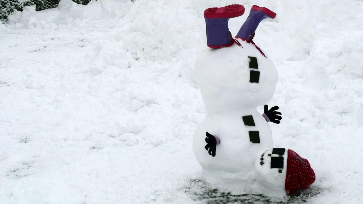 Snømann på Slitu - Foto: Marija-Terezija Benasic
