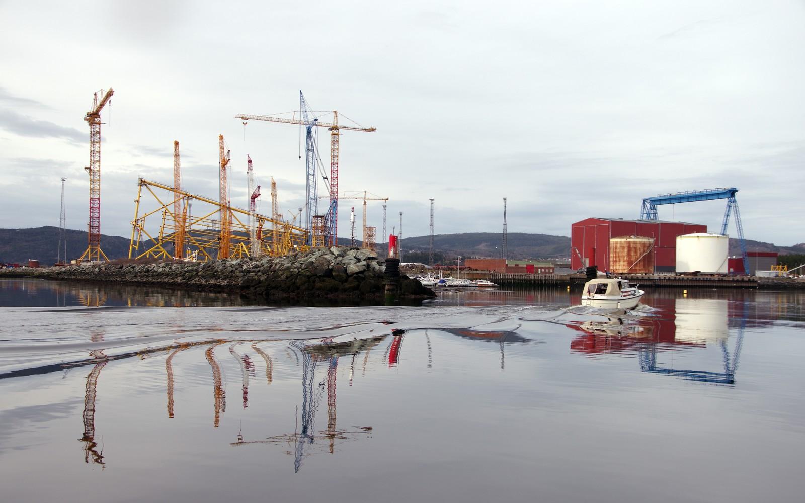 Inn til Verdal havn