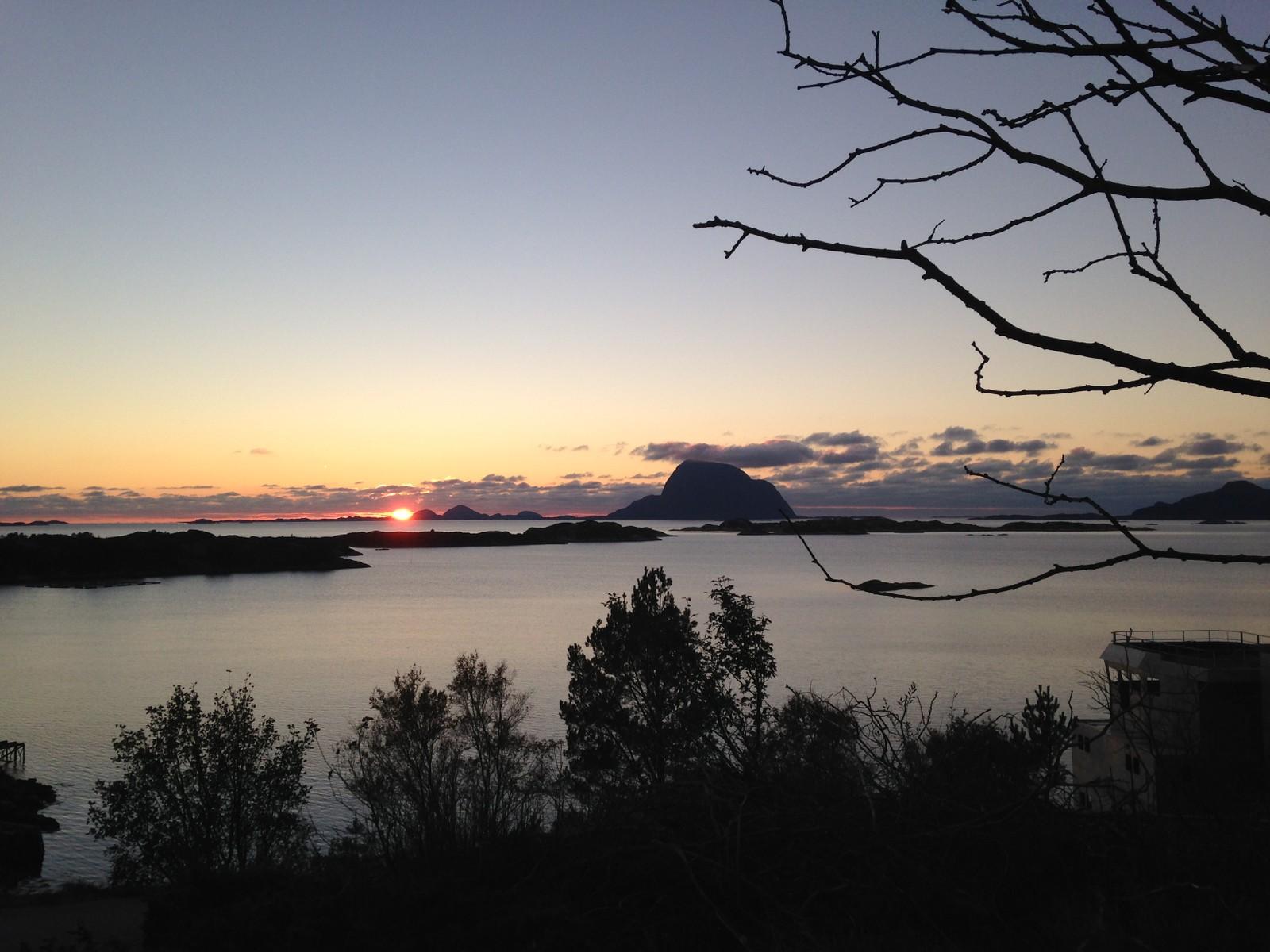 Solnedgang ved Alden.