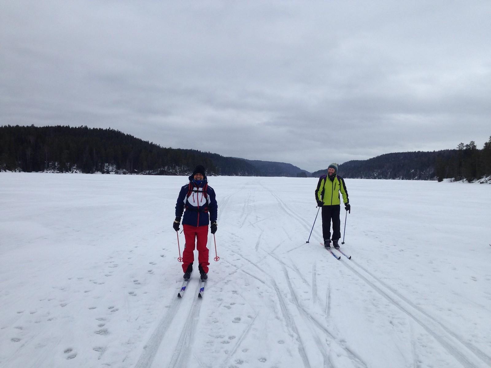 På skitur med Kåre Anisdal.
