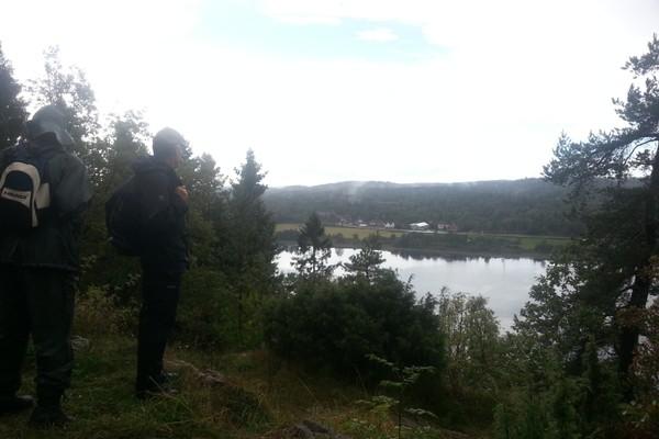 Stokkevannet mot hagesenteret - Foto: Steinar Skilhagen