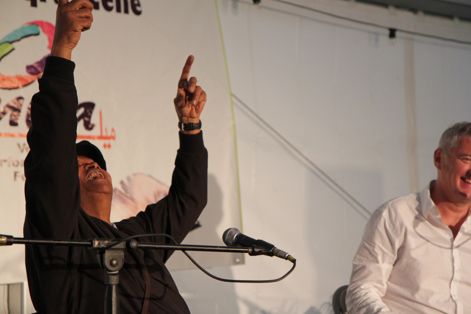 Hugh Masekela fra Sør-Afrika under Melafestivalen.