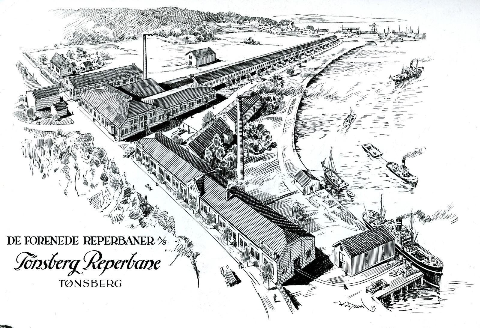 Tegning De forenede reperbaner