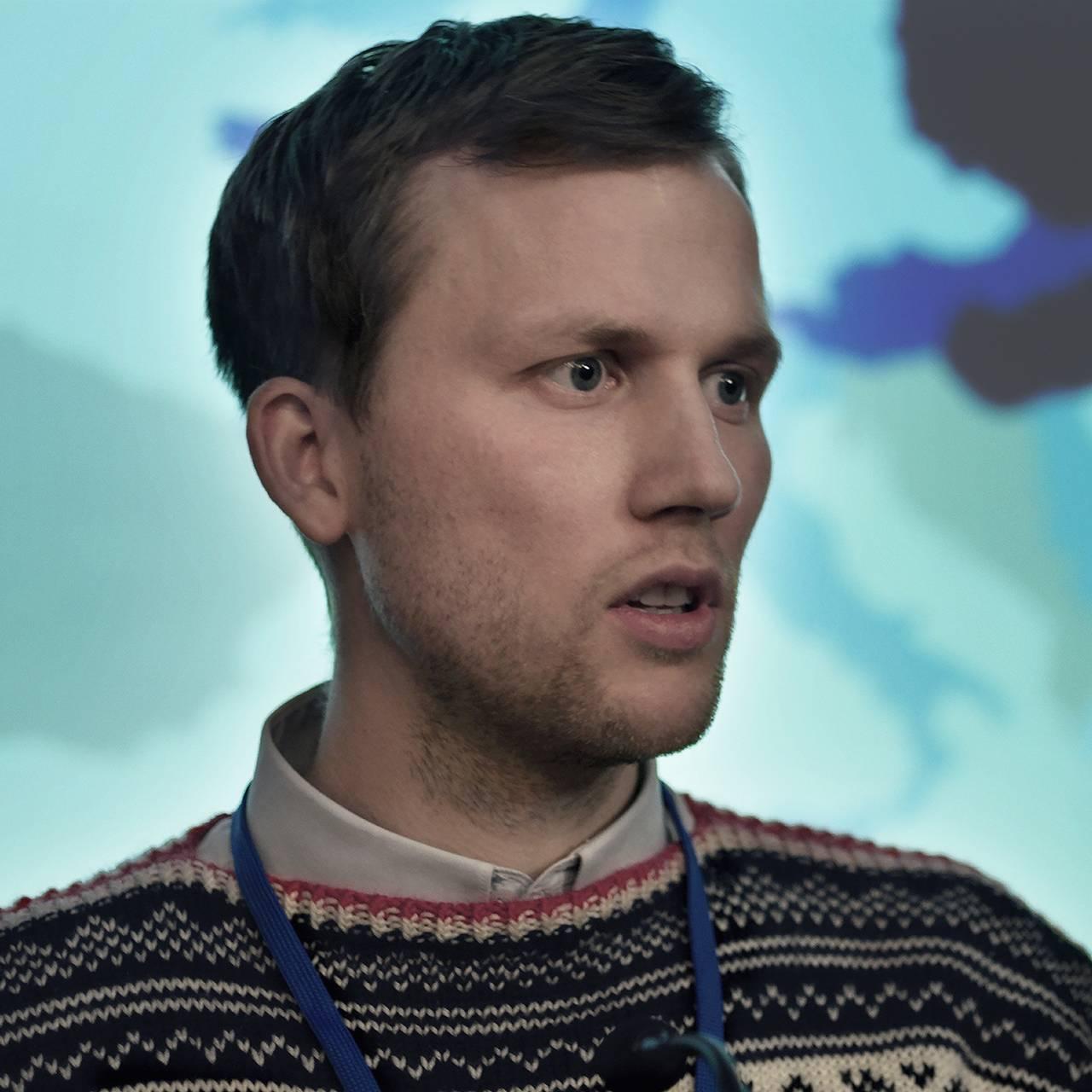 NRKs dramaserie «22. juli» – bloggeren Mads (Fredrik Høyer).