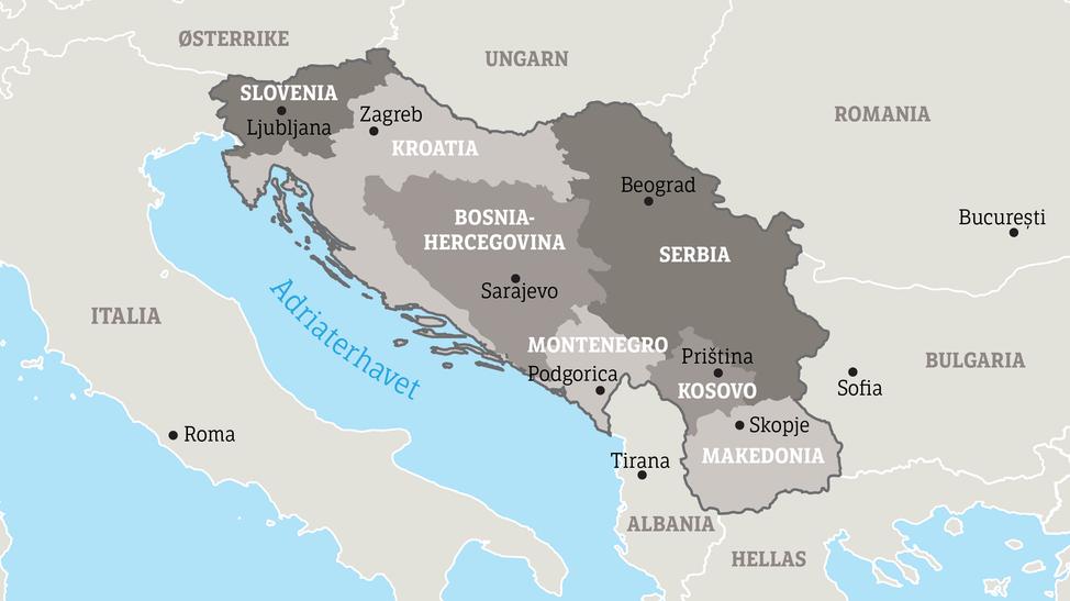 balkan kart Se krigs  og fredsbildene fra Balkan – NRK Urix – Utenriksnyheter  balkan kart