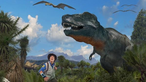 Bli med Andy millioner av år tilbake og oppdag spennende dionosaurer. Britisk serie.