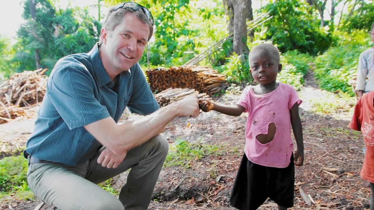 John-Arne Røttingen under Ebolautbruddet i Vest-Afrika i 2014.