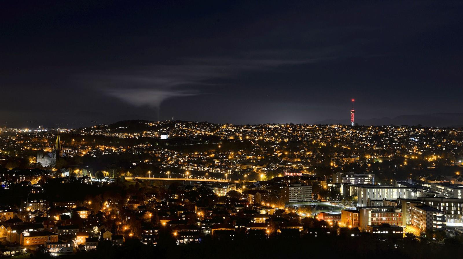 Trondheim by night