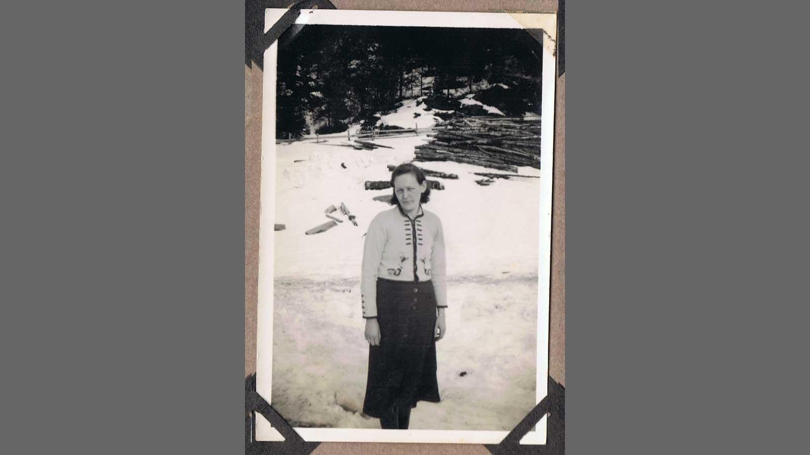 Passfoto av Hjørdis Aune