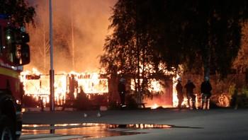 Brann Lier statlige ventemottak
