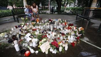 sorg etter terrorangrepene, Kristiansand mandag
