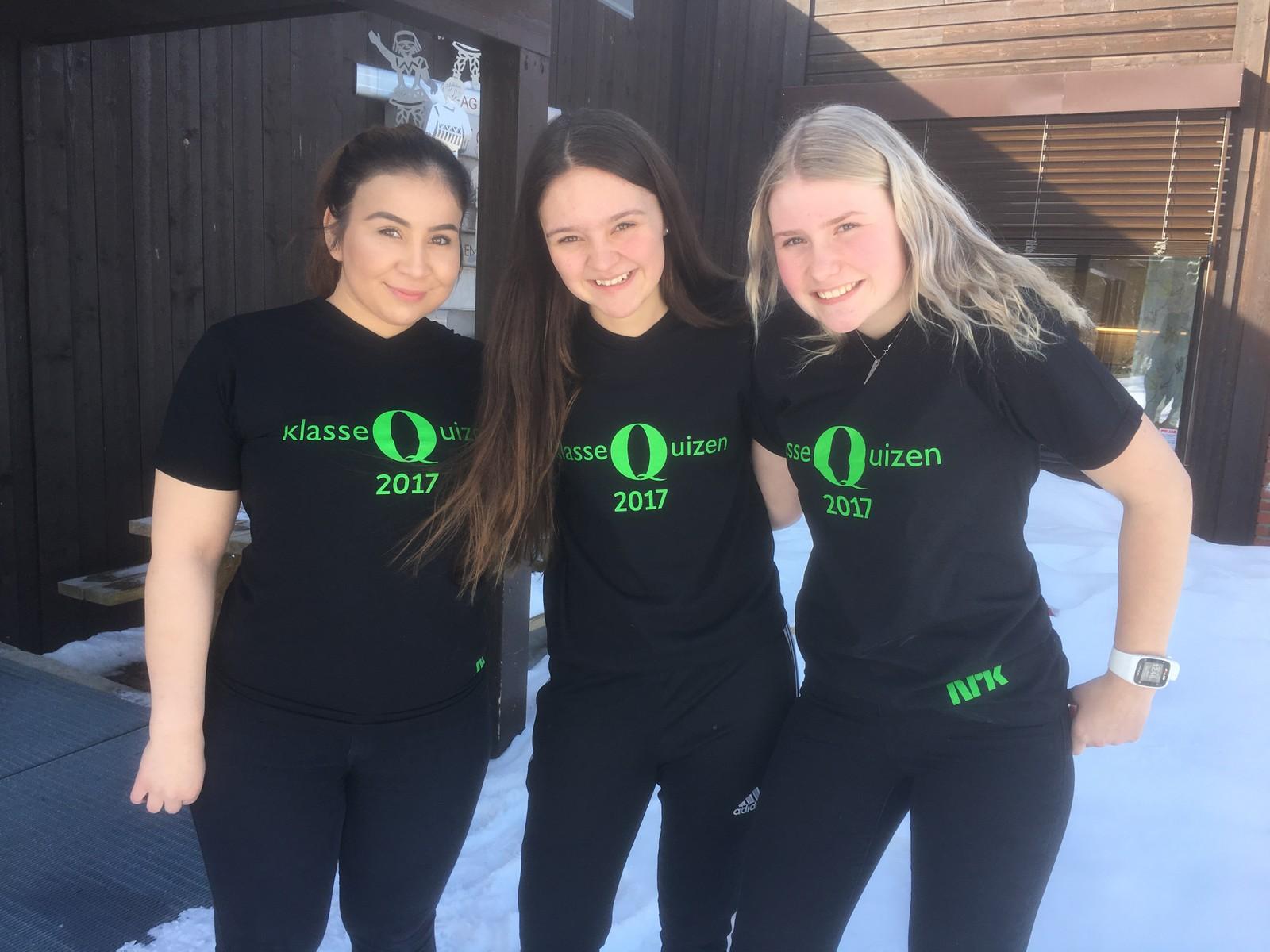 Ina Elise Sundkvist, Nora Bjørsagård og Gro-Marit Storinset fra Kvikne skole og barnehage fikk fem rette.