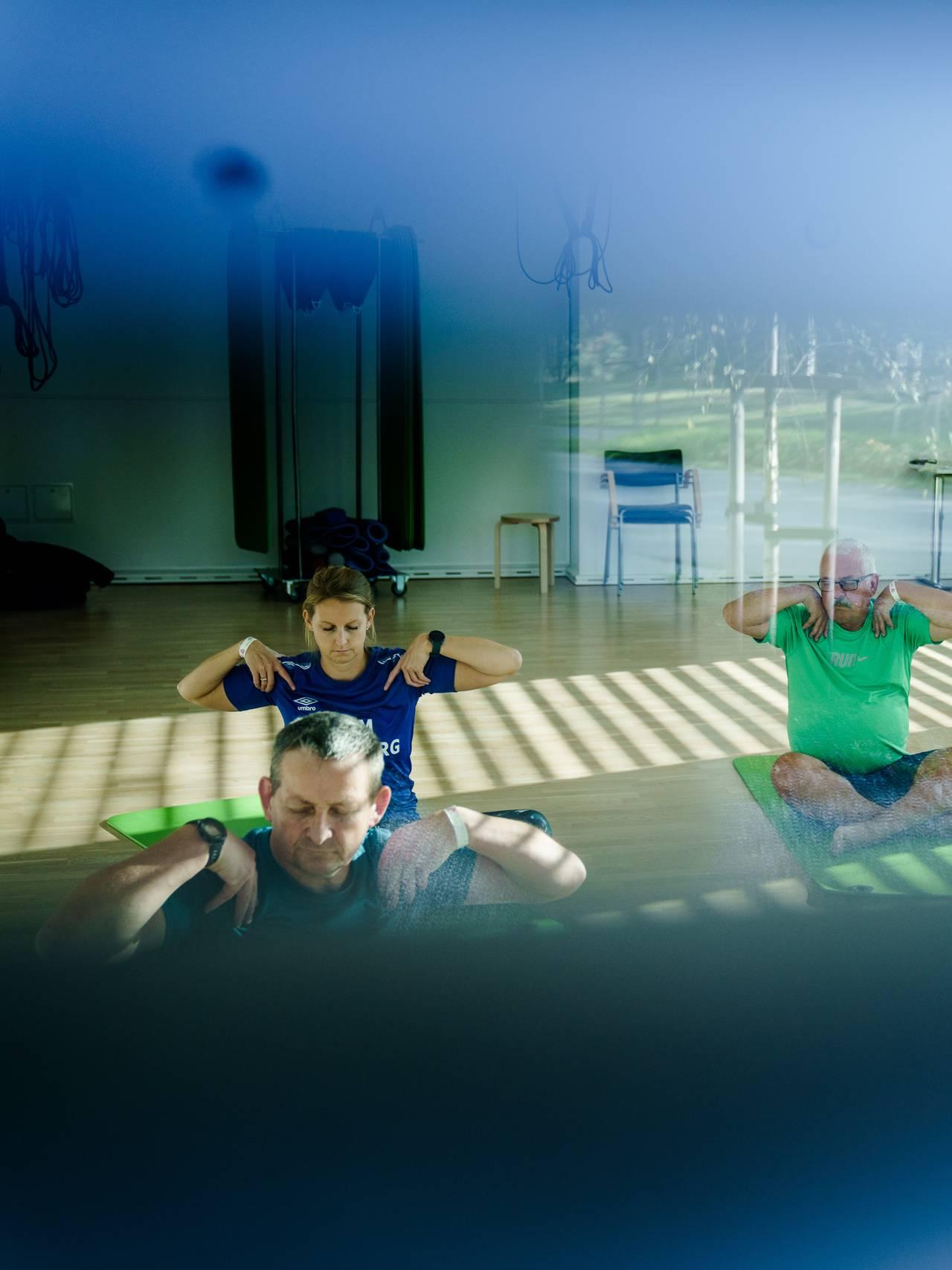 Yoga-time på LHL-sykehuset på Gardermoen