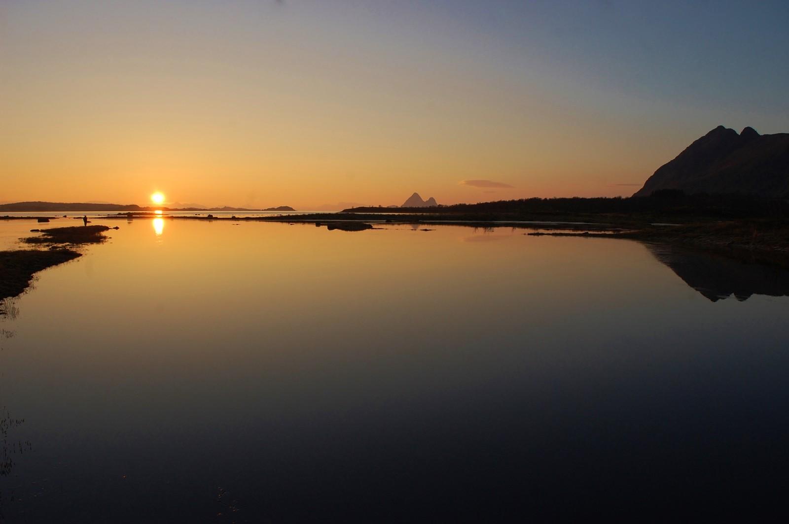 Dagens solnedgang. Fra Spengran i Bø.