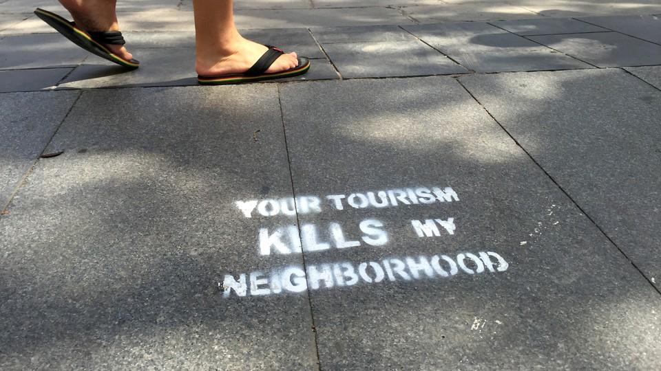Invadert av turister