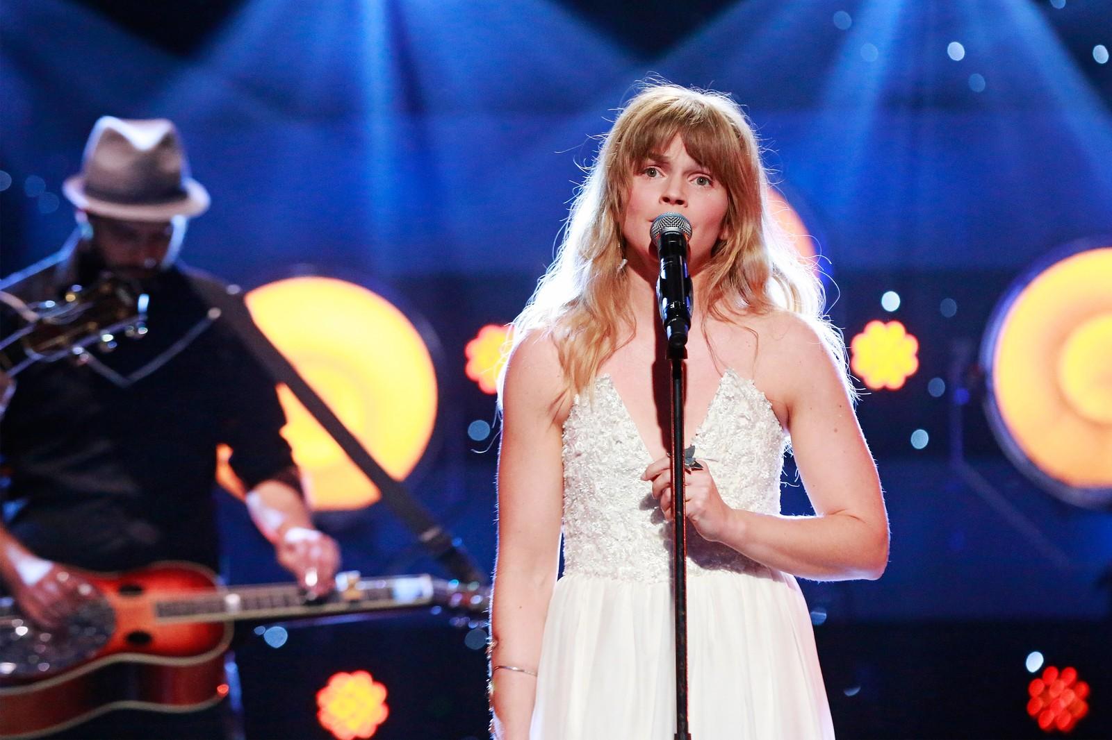 HJERTESMERTE: Gunnhild Sundli satset alt på sangen «Stay» av Allyson Taylor og Larry Byrom.