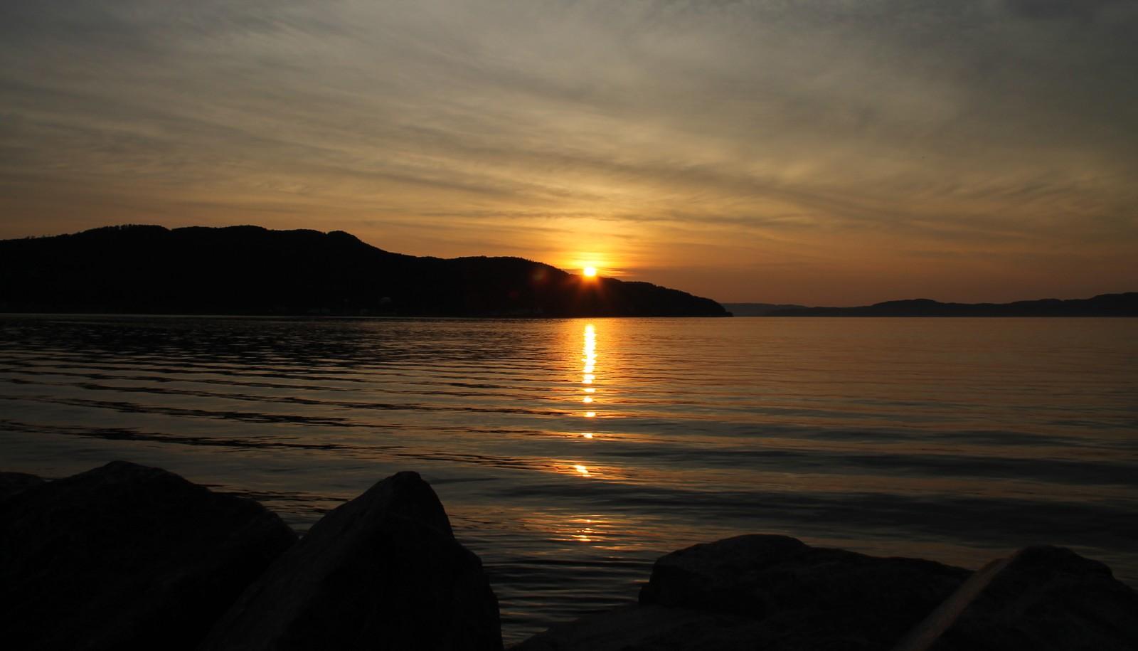 Solnedgang ved Trondheimsfjorden