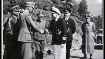 Terboven hilser på kaptein Wilhelm Meisel i Norge 1942