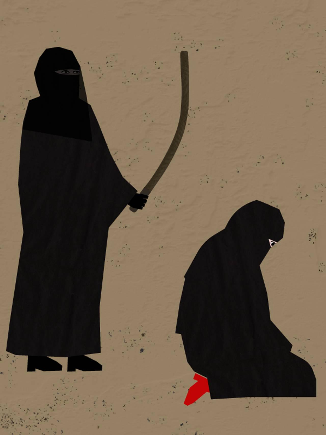 IS-kvinne piskes