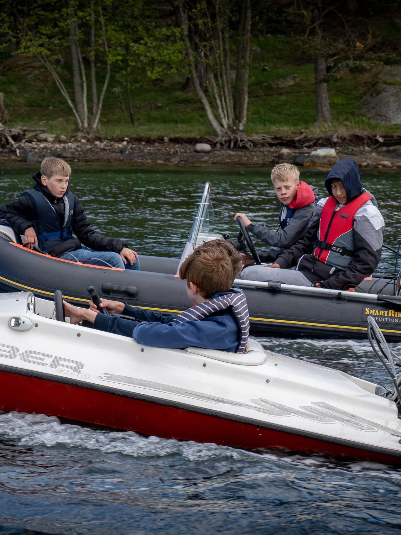 Unge båtførere i Grimstad