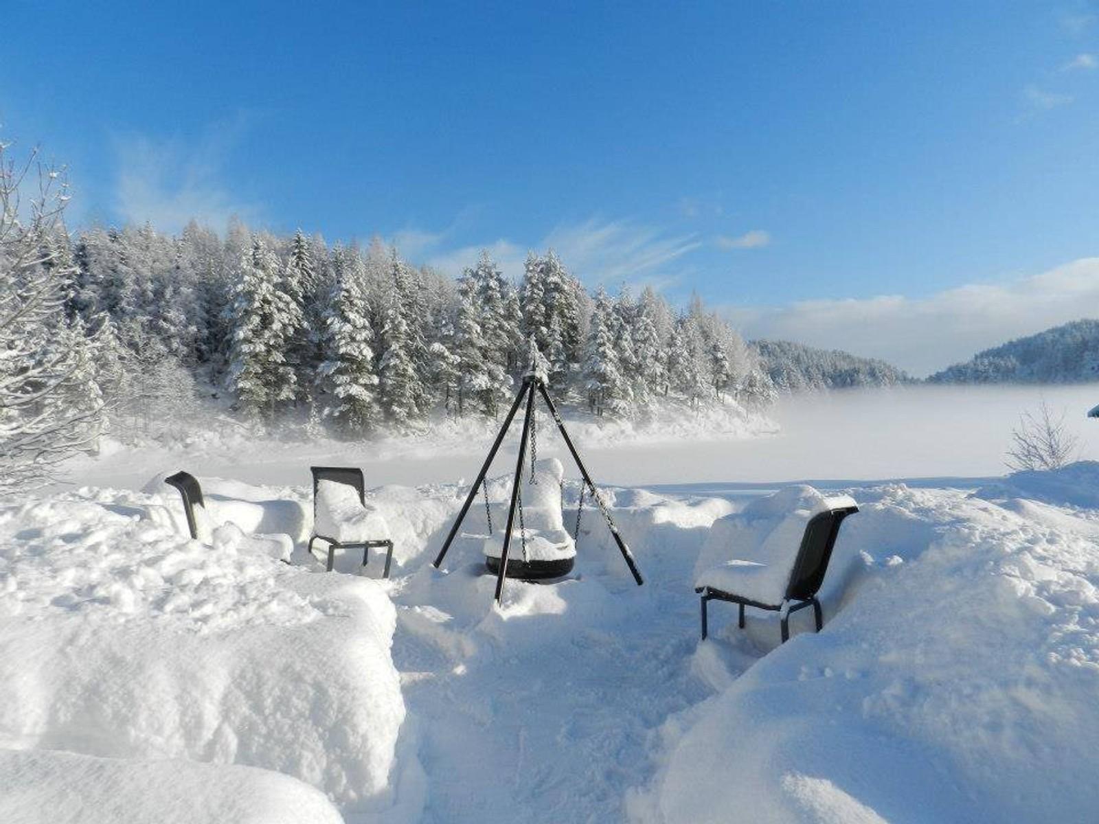 Ved Toke på vinterstid.
