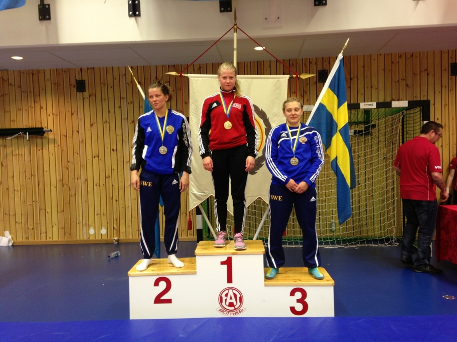 Therese Persson (SWE), Signe Marie Fidje Store (NOR) og Evalina Gryvik (SWE)