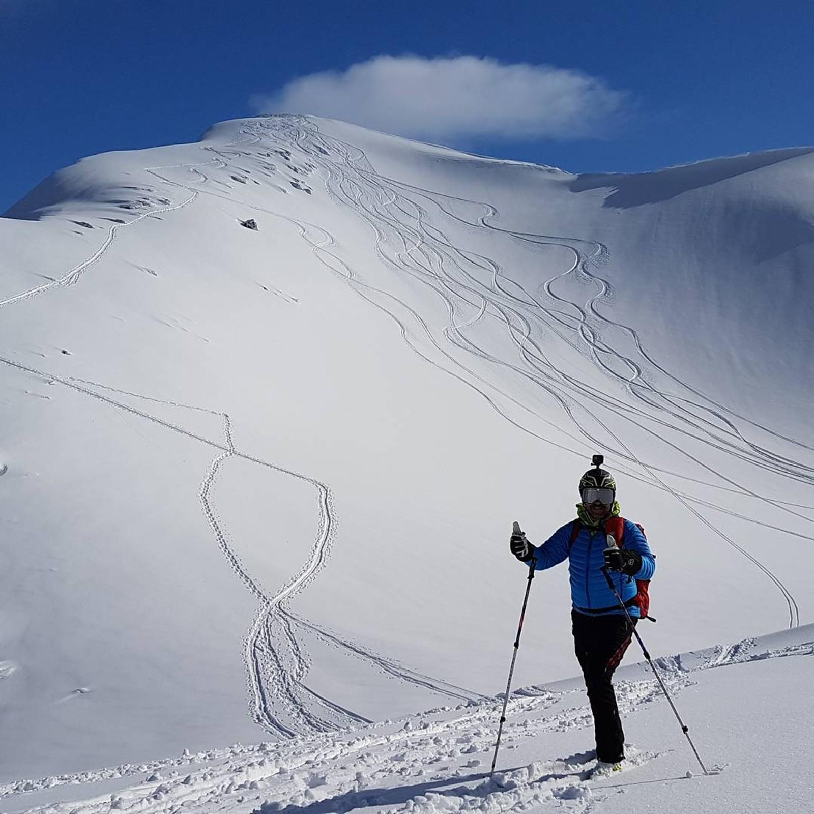 Pudderføre på Ronsfjellet i Engavågen.