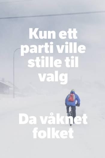 Syklist i snøføyk