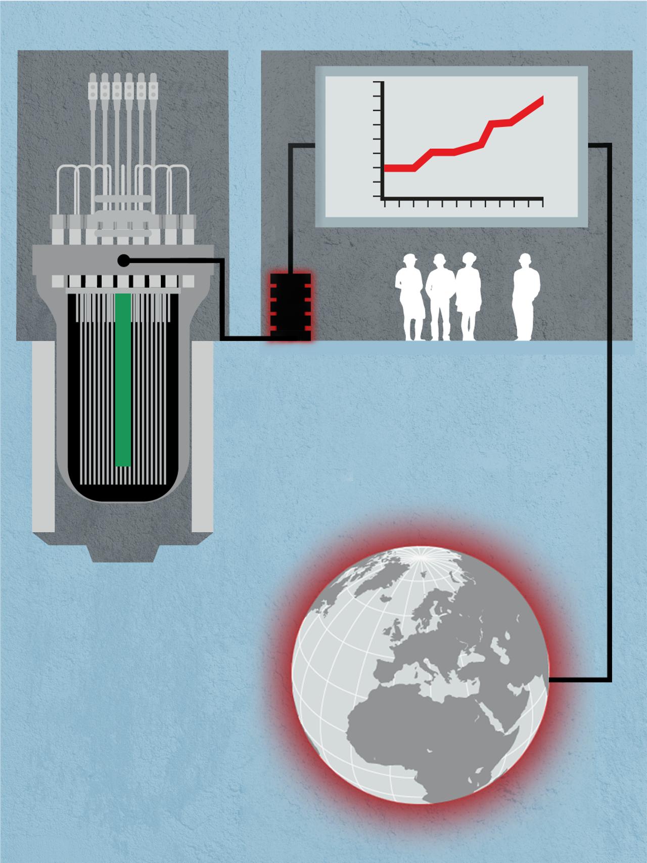 Atomreaktor illustrasjon del 4
