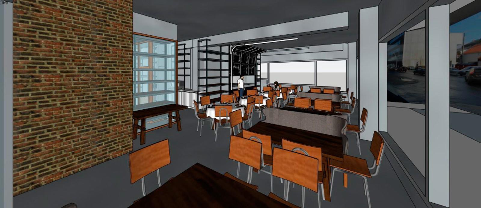 Restaurantdelen av Mathallen i Tromsø.