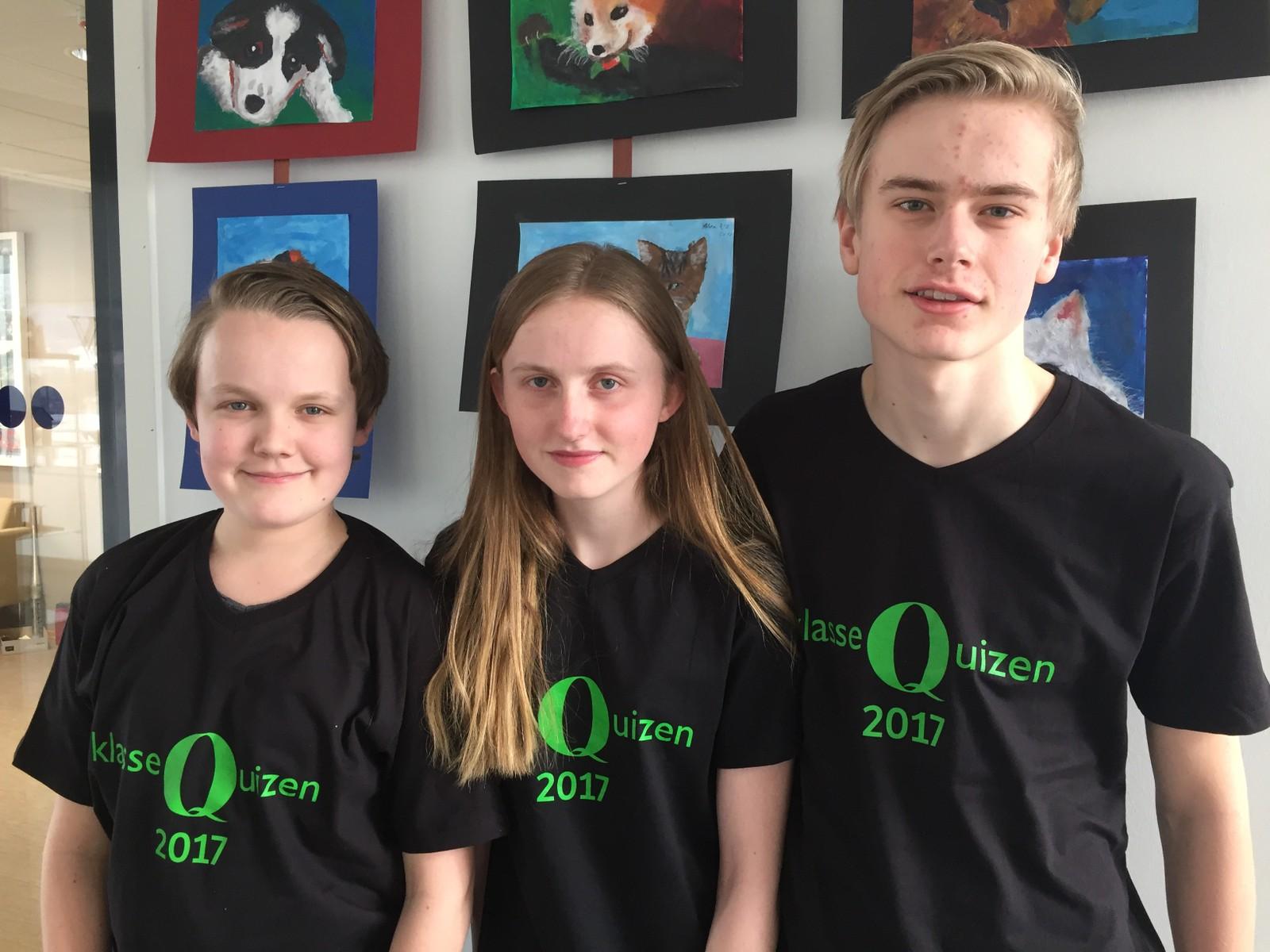 Steffen Magnussen, Aslaug Seim Gunstad og Ola Sæther fra Jevnaker skole klarte 10 poeng.