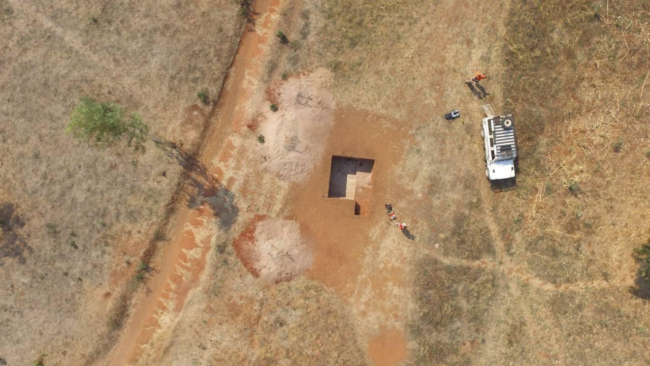 Utgravinger i Malawi, Afrika.