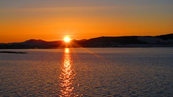 Solnedgang på Stokmarknes