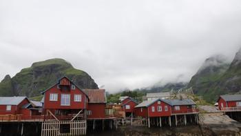 Grått vær i Lofoten