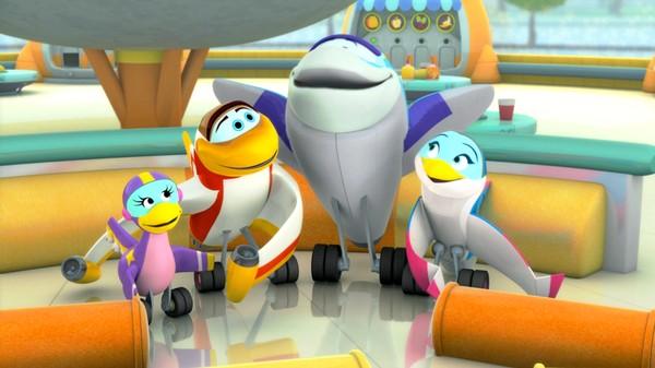 Amerikansk animasjonsserie. Gjer deg klar til å fly høgt med Ørna og dei andre i Rakettgjengen.