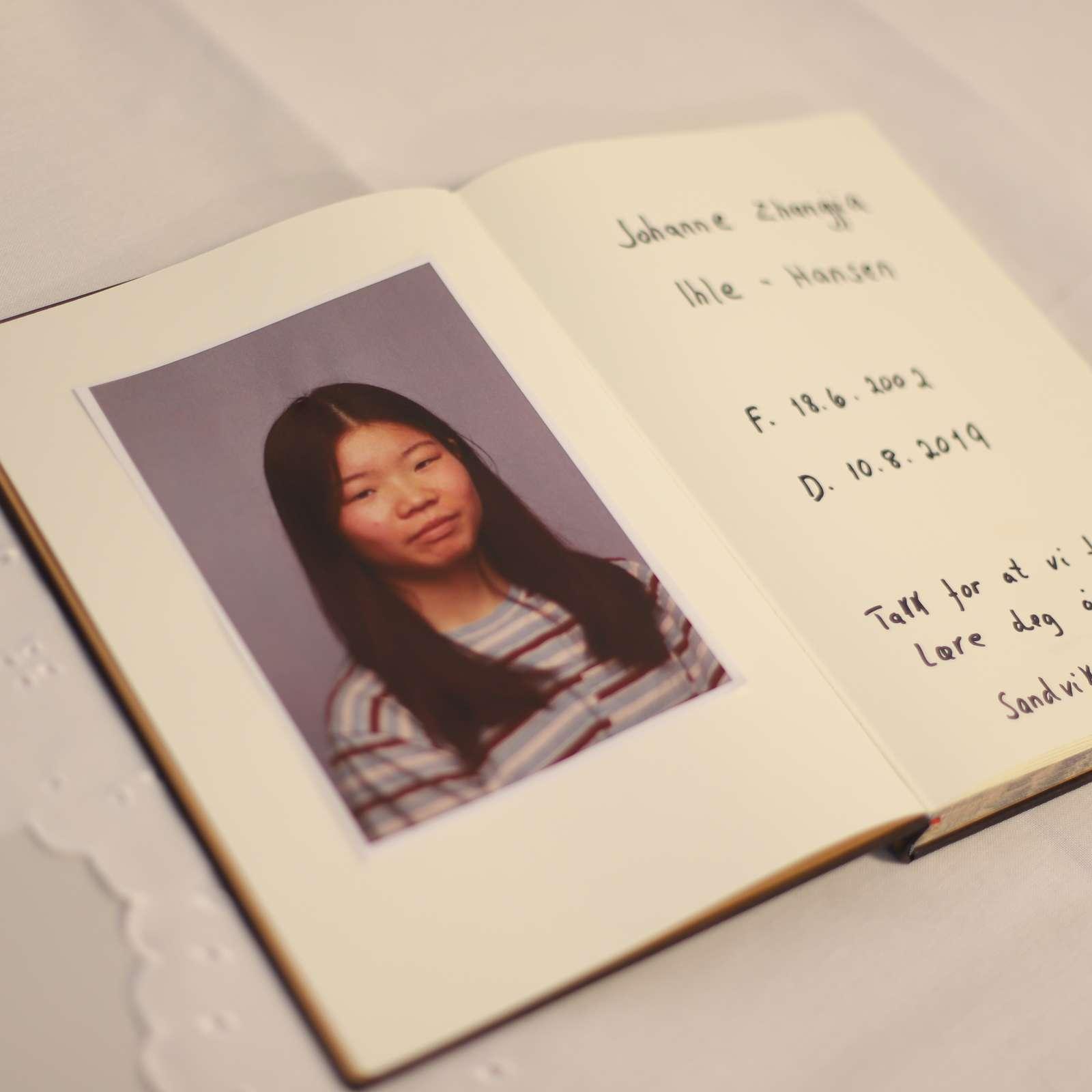 Minneprotokoll for Johanne Zhangjia Ihle-Hansen