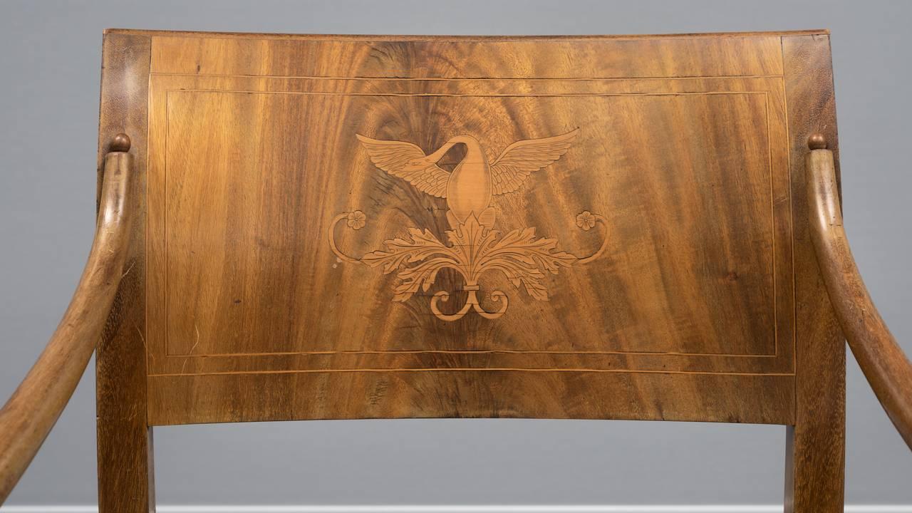 Modellen til armstolen kalles Christian August, oppkalt etter den danske prins Christian August (1768–1810). Privat eie.