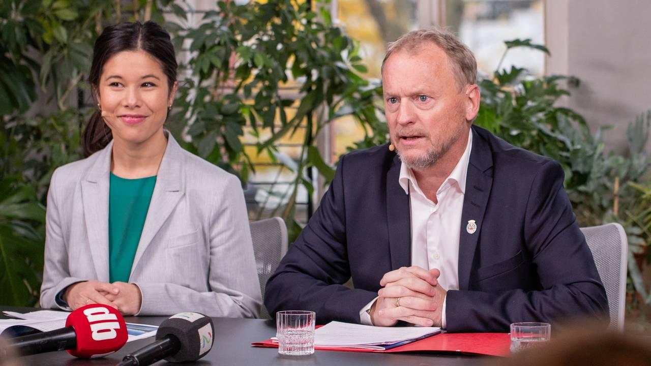Raymond Johansen (Ap), Lan Marie Berg (MDG), Sunniva Holmås Eidsvoll (SV)