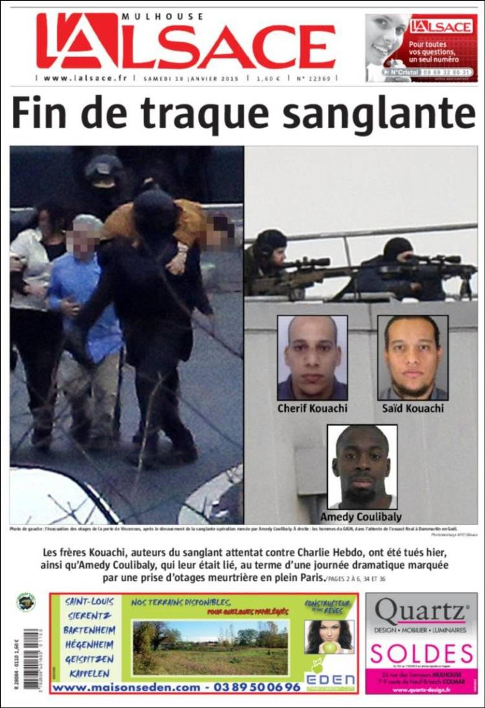 L'Alsace: Slutten på den blodige klappjakten.