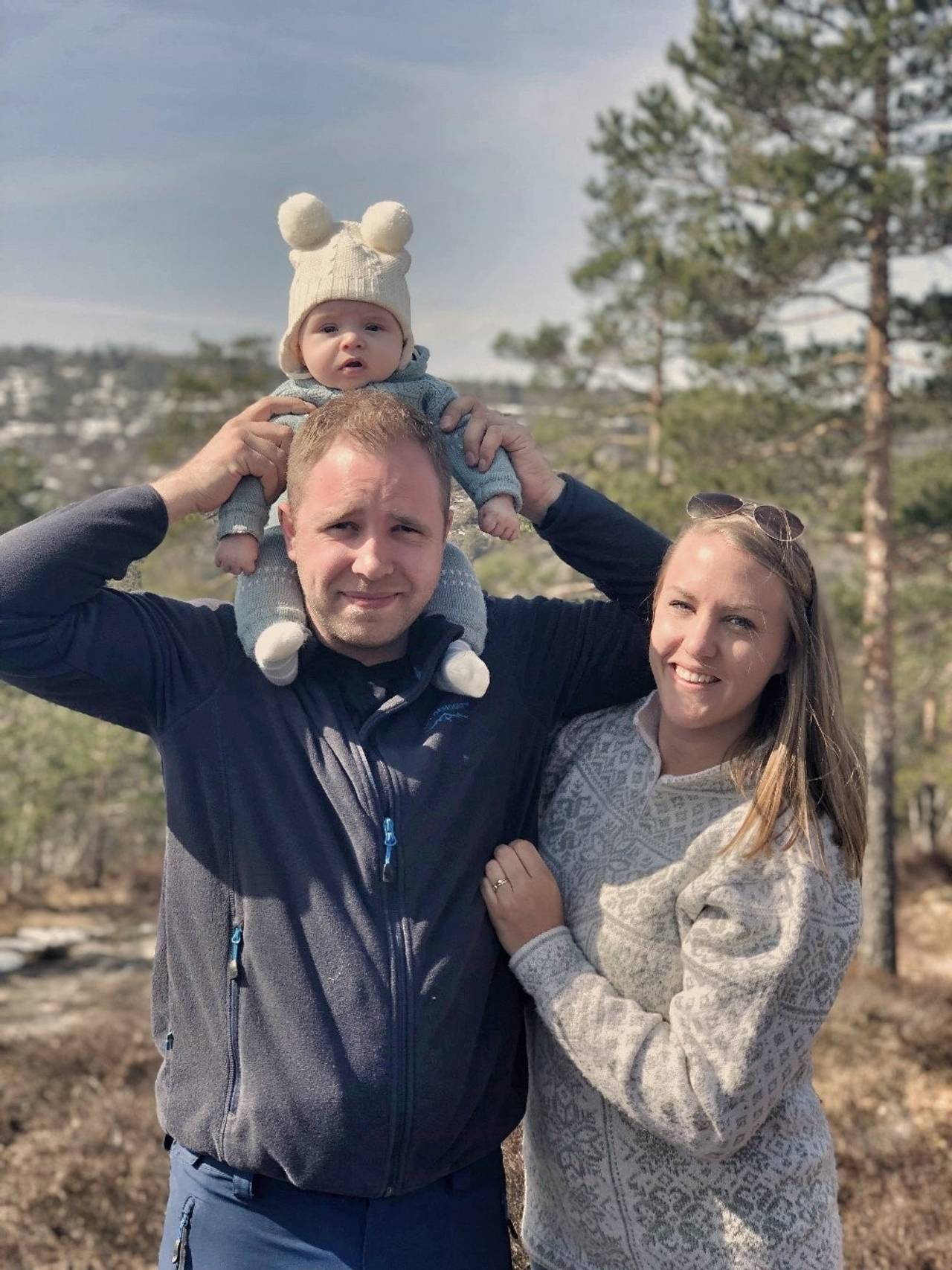 Jannike Skagen, pappa Jøran og vesle Christoffer