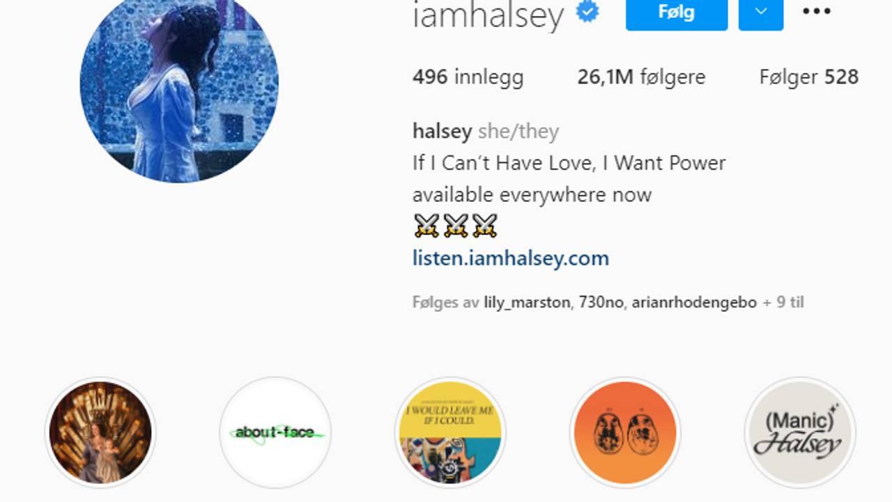 Halsey pronouns
