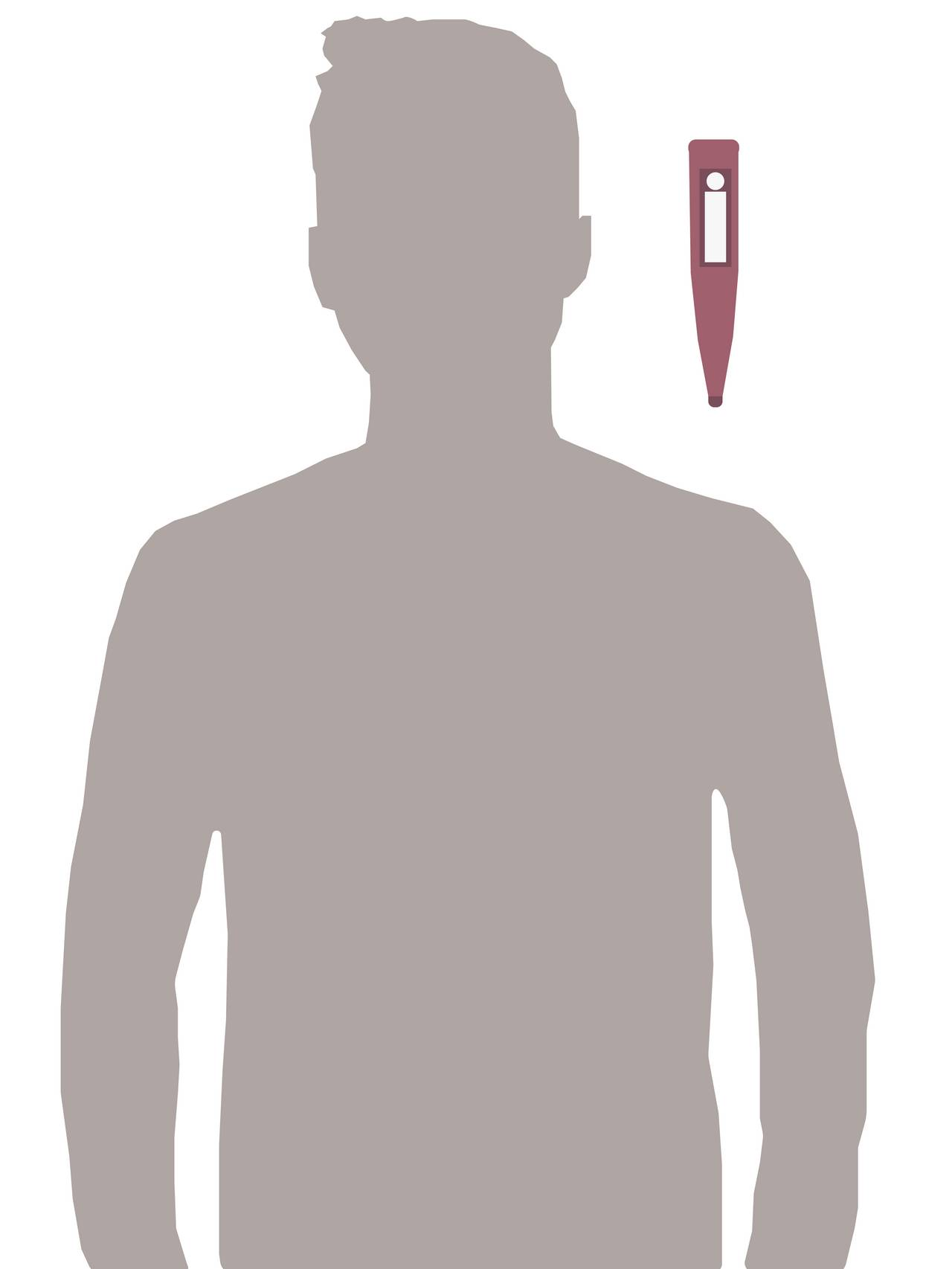 siluett av mann med feber