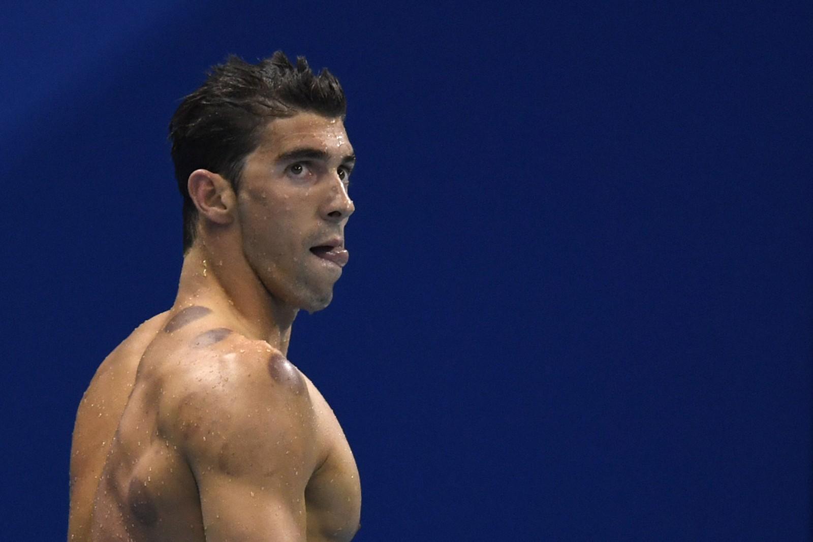 I løpet av to dager i OL-bassenget har Michael Phelps vist de fleste følelser i form av ansiktsuttrykk.