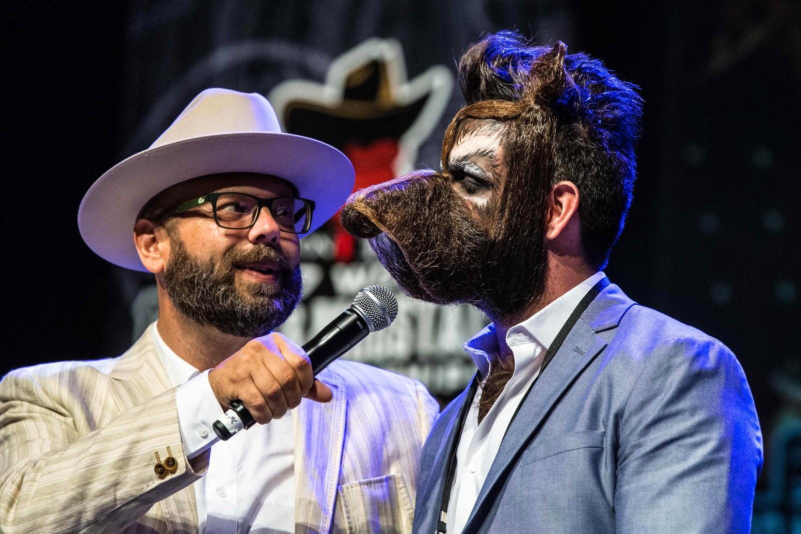 """Isaiah Webb fikk """"bare"""" andreplass for dette skjegget under """"Remington Beard Boss World Beard & Moustache Championships"""" i Austin i Texas."""