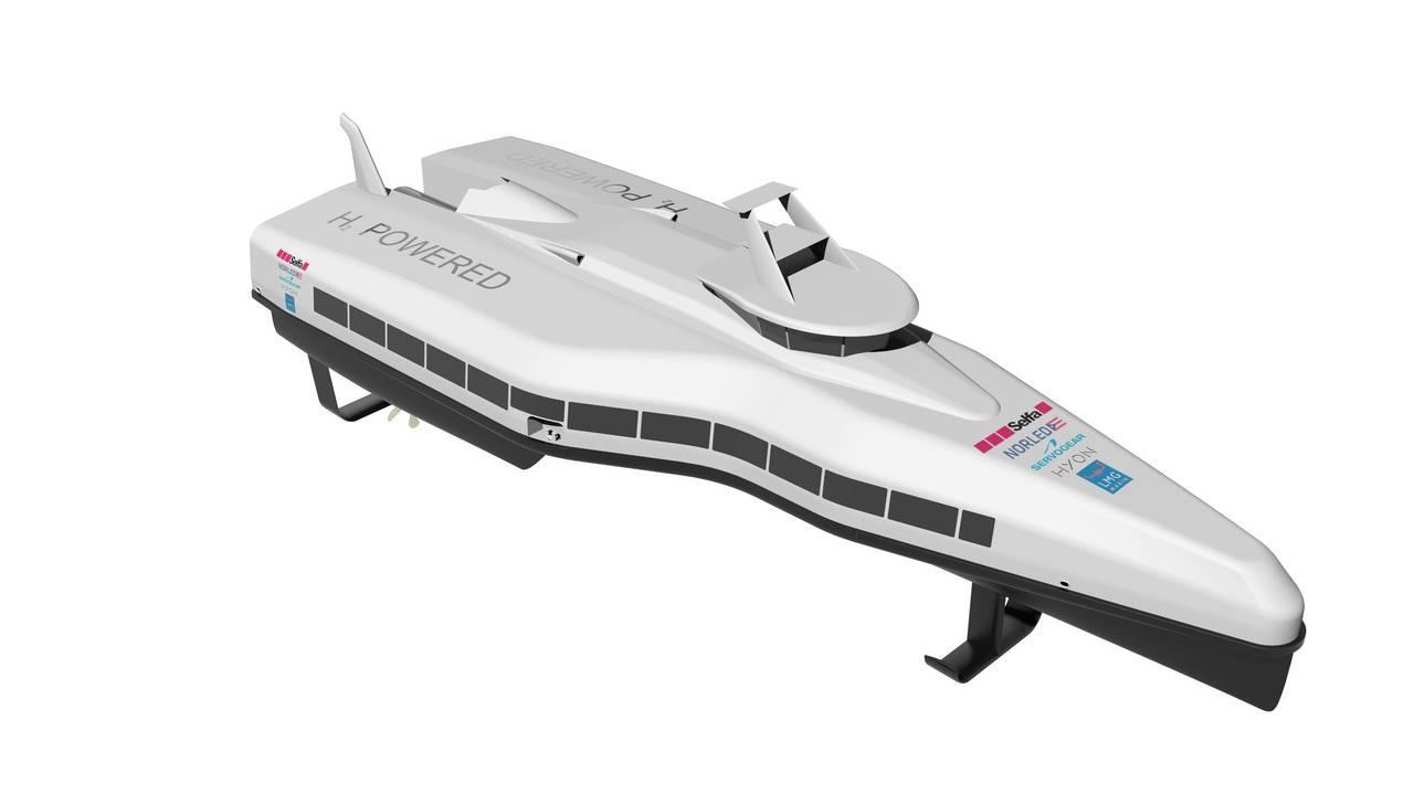 Illustrasjon - hurtigbåt, Selfa m.fl.