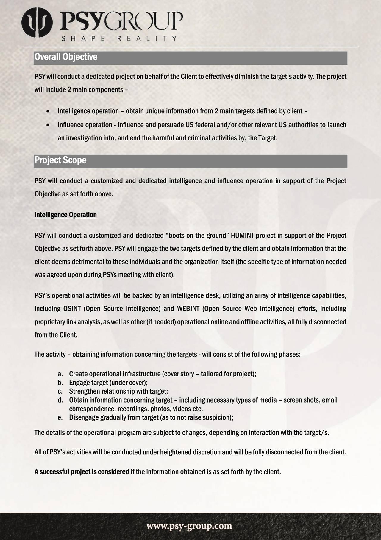 Side 2 i Psy-Group-kontrakten
