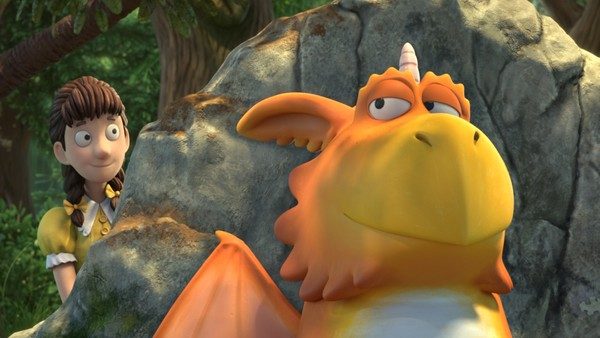 Britisk animasjonsfilm. Dragen Zog må lære mange dragekunster før han blir stor.