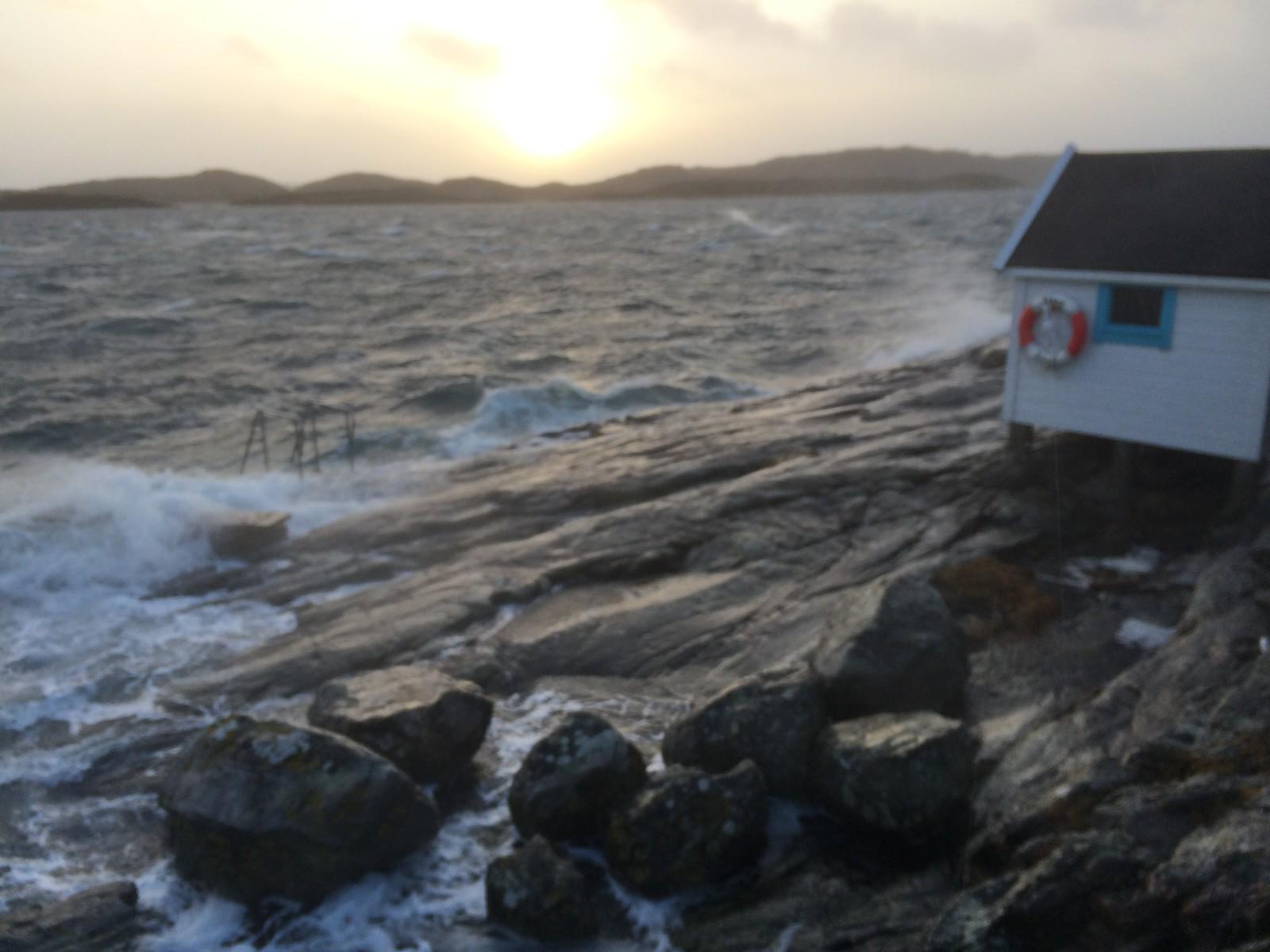 VILT OG VAKKERT: Utsikt fra Glesvær på Sotra fredag ettermiddag.