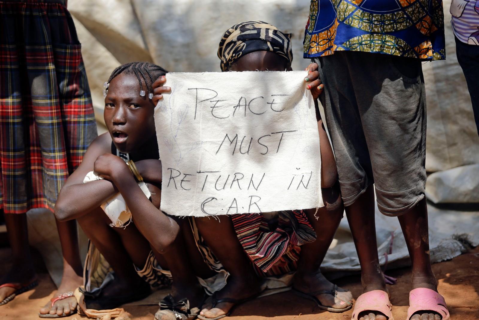 Freden må komme tilbake til Den sentralafrikanske republikk.