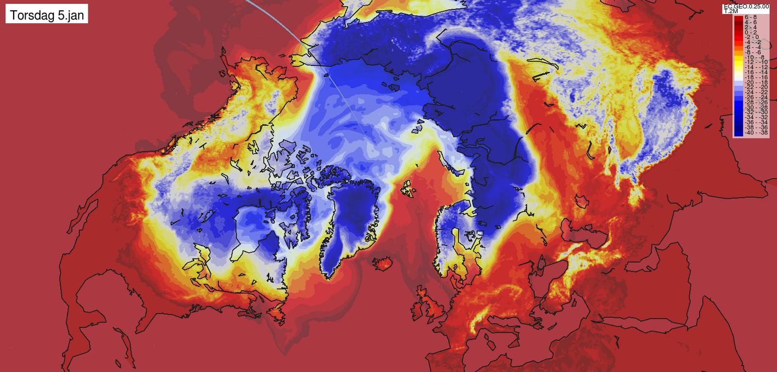 TORSDAG 5. JANUAR: Det er iskaldt i nesten hele Norge.